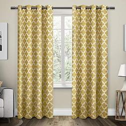 Exclusive Home Curtains Neptune Cotton Window Curtain Panel