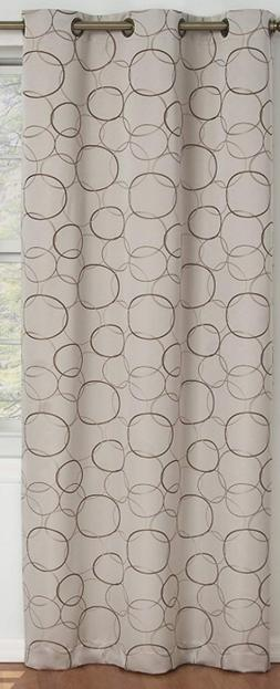 "NEW Eclipse Blackout Curtain Meridian • Jacquard 42"" x 84"""