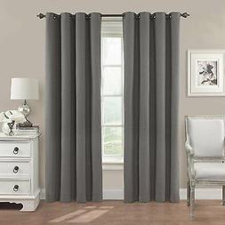 New! Eclipse Nadya Solid Blackout Window Curtain Panel, 95-I
