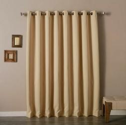 NEW Best Home Fashion Wide Width Blackout Grommet Curtain Be