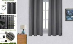 NICETOWN Thermal Insulated Grommet Blackout Curtains for 42""