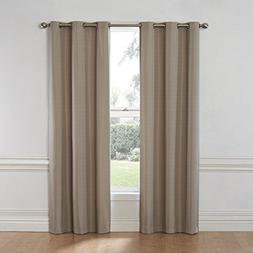 Nikki Thermaback Blackout Curtain Panels Tan  - Eclipse&#153