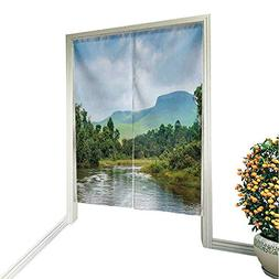 Leighhome Noren Style Doorway Curtain River in The Jungle sm