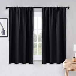 PONY DANCE Black Out Window Curtains - 2 Panels Thermal Curt