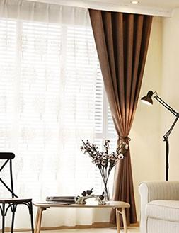 Curtain One Piece Modern Imitation Linen Shading Cloth Bedro