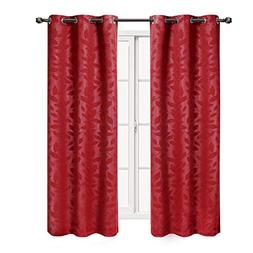 """Set of 2 Panels 74""""Wx84""""L -Royal Tradition - VIRGINIA - Red"""
