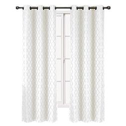 """Set of 2 Panels 84""""Wx120""""L -Royal Tradition - Willow - White"""