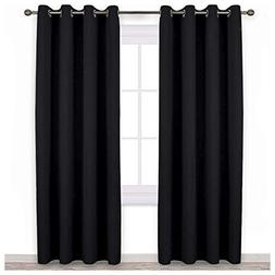 "NICETOWN Blackout Curtain Panels 84"" - Light Reducing Therma"