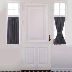 Patio French Door Blackout Window Curtains Thermal Insulated