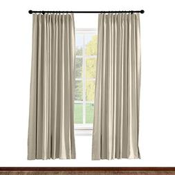 ChadMade Pinch Pleated Curtain Solid Thermal Insulated Black