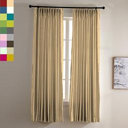 "ChadMade Pinch Pleated 72"" W x 84"" L  Luxury Heavyweight Fau"