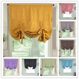 Pink Solid Blackout Roman Curtain Kitchen Cafe Short Window