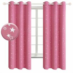 BGment Pink Star Blackout Curtains for Kid's Bedroom - Gromm