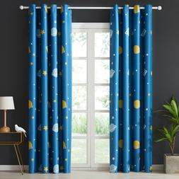 Planet & Star Pattern Curtains for Children Baby Kids Room B