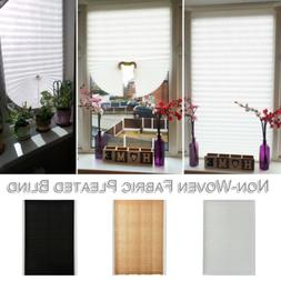 Pleated Blind Curtain Window Covers Self Adhesive Temporary