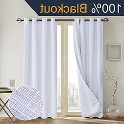 Primitive Linen Look,100% blackout curtainWhite blackout cur