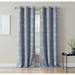Print 84-inch Blackout Curtain with Grommets - Single Panel,