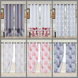 2PC Printed/SOLID Blackout Window Curtains Bedroom Living Ro
