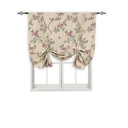 BGment Printed Tie Up Blackout Curtain, Rod Pocket Thermal I