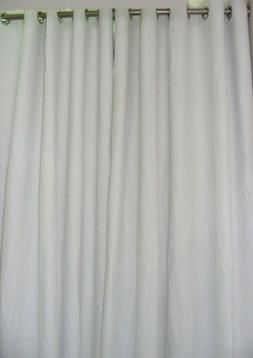 Pure Natura Linen Curtains White and Ivory color custom made
