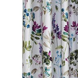Anady Top Purple/Blue Leaf Curtains Blackout Flower Bedroom