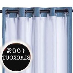 RHF Thermal Insulated Blackout Curtain Liner White Panel-Rin