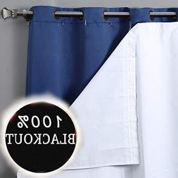 RHF Thermal Insulated Blackout Curtain Liner for 84 inch cur