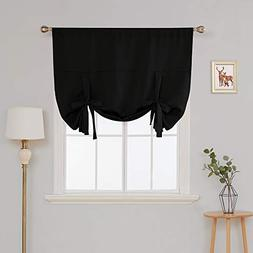 Deconovo Rod Pocket Blackout Curtains Tie Up Curtains for Be