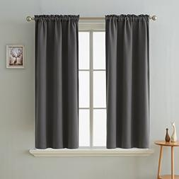 Deconovo Rod Pocket Curtain Panel Thermal Insulated Blackout