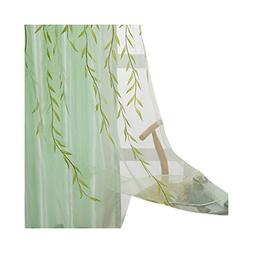 ASide BSide Rod Pockets Voile Drapes Home Decorations Sheer