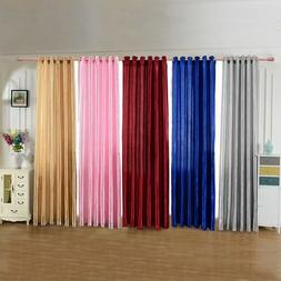 Blackout Room Darkening Curtains Window Panel Drapes Door Cu
