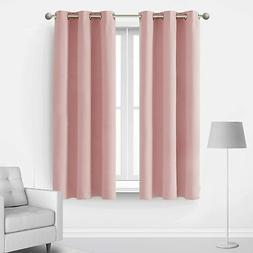 Deconovo Room Darkening 63 Inches Long Blackout Curtains The