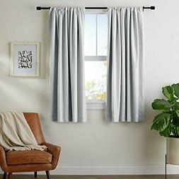 "AmazonBasics Blackout Curtain Set - 52"" x 63"", Light Grey"