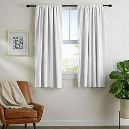 AmazonBasics Blackout Curtain Set - 52''x 63'', White