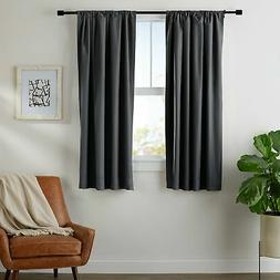 "AmazonBasics Blackout Curtain Set - 52"" x 63"", Black"