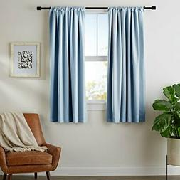 "AmazonBasics Room-Darkening Blackout Curtain Set - 52"" x 63"""