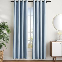 AmazonBasics Room-Darkening Blackout Curtain Set with Gromme