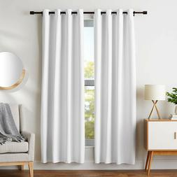 AmazonBasics Room Darkening Blackout Curtain Set with Tie Ba