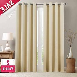 Room Darkening Curtains for Living Room 84 inches Long Moder
