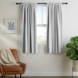 AmazonBasics Room Darkening Blackout Curtains w Tie Backs Se