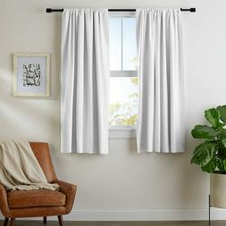 AMAZONBASICS ROOM DARKENING BLACKOUT CURTAINS WITH TIE BACKS