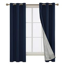 Deconovo Room Darkening Blackout Curtains with Silver Coated