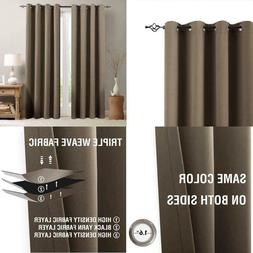 Vangao Room Darkening Curtain 84 Inches Length Window Treatm