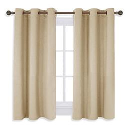 NICETOWN Room Darkening Curtain Panels for Living Room, Ther