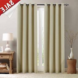 Room Darkening Curtains for Bedroom Linen Textured Moderate