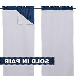NICETOWN White Curtain Liner Panels - Black Out Drapes Liner