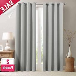 Moderate Blackout Curtains for Bedroom 84 inches Long Light