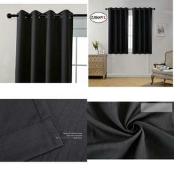 MIUCO Room Darkening Texture Thermal Insulated Blackout Curt