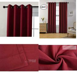 Miuco Room Darkening Textured Grommet Thermal Insulated Blac