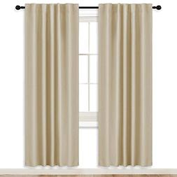 RYB HOME Room Darkening Thermal Blackout Curtains, Window Cu